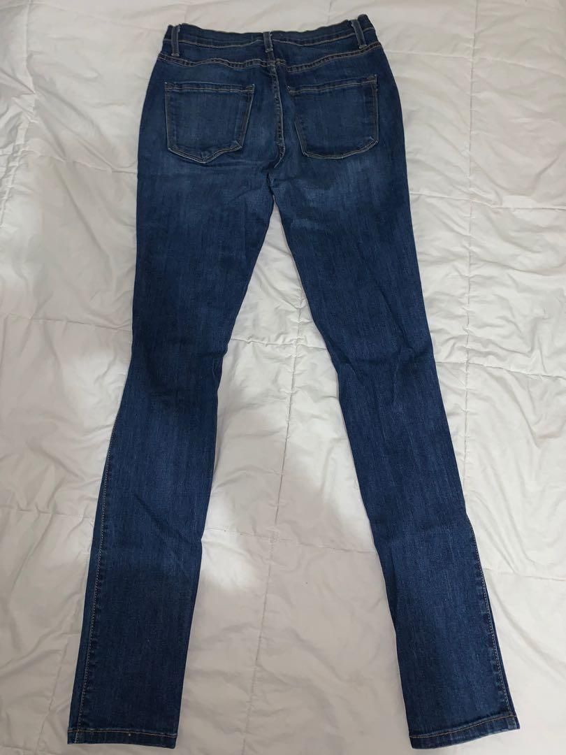 Fashion Nova (Delirious Distressed) Dark Denim Skinny Jeans