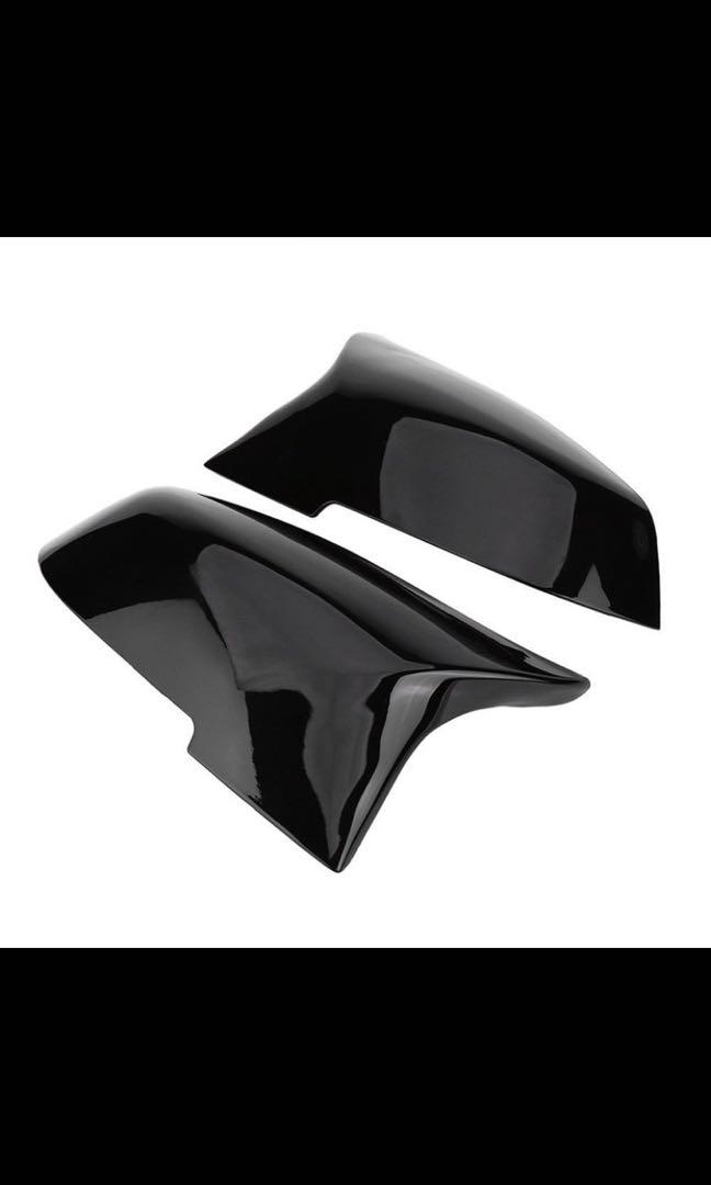For Bmw F20 F21 F87 M2 F23 F30 F36 E84 Gloss Black Side Mirror Cover Cap Rear