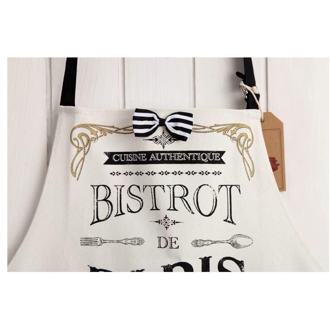 Fun Cotton Apron-Bistrot de Paris | Kitchenware | Linens & Cloths