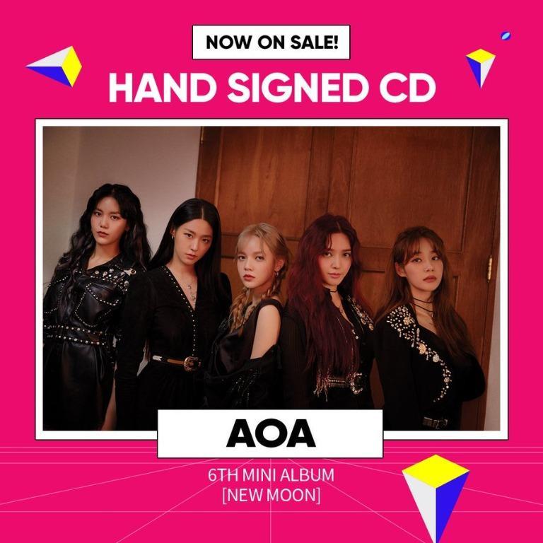 [GO] ALL MEMBERS SIGNED  AOA - 6TH MINI ALBUM [NEW MOON]