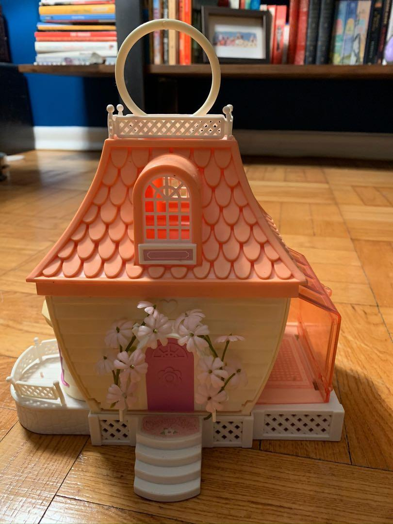Hasbro 1983 Charmkins Jewelry House with Furniture and Figurines.