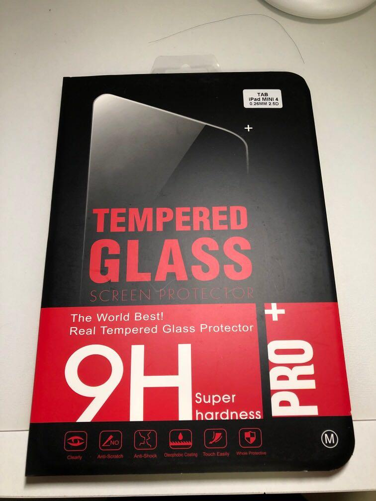 Ipad mini 4 screen protector(tempered glass)