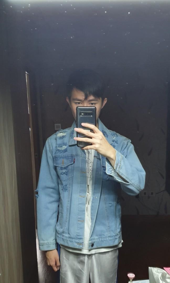 Jaket Jeans Ripped Jaket Denim