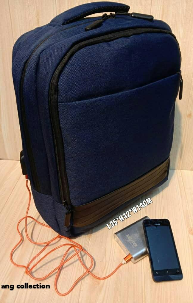 Korean Style Laptop Bag/ Fashion Backpack/ Travel Backpack with external USB and Headset Interface