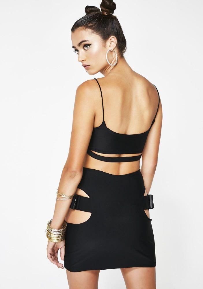 Lipt the Label Black Buckle skirt and matching belt