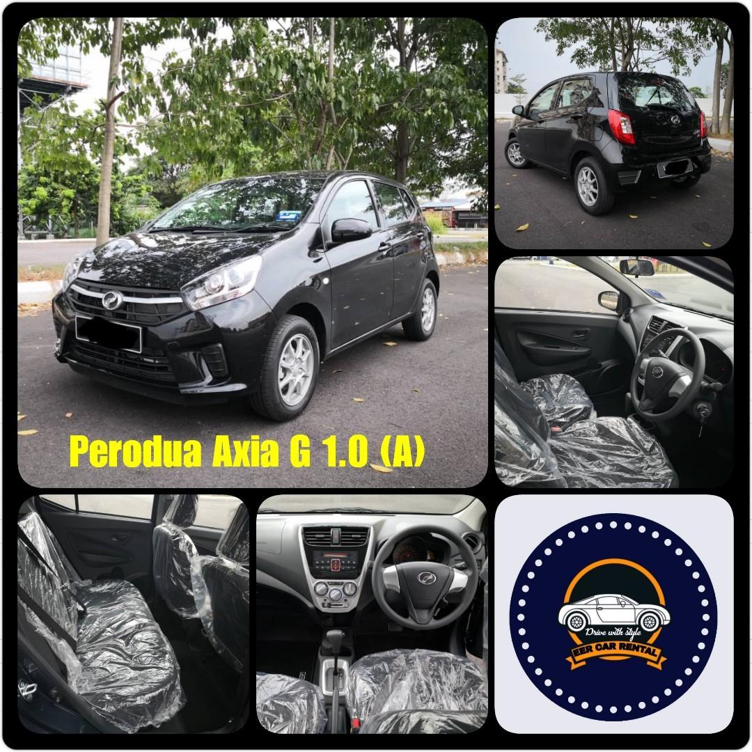 Low mileage New Perodua Axia G1.0 (A) Kereta Sewa Murah Selangor KL