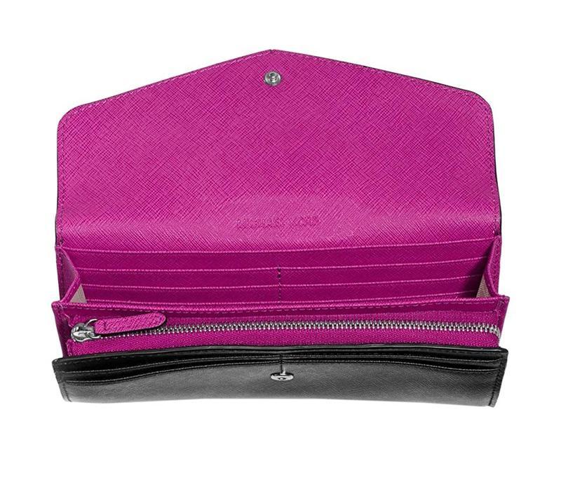 Michael Kors Black Fuscia Saffiano Wallet, RRP$229