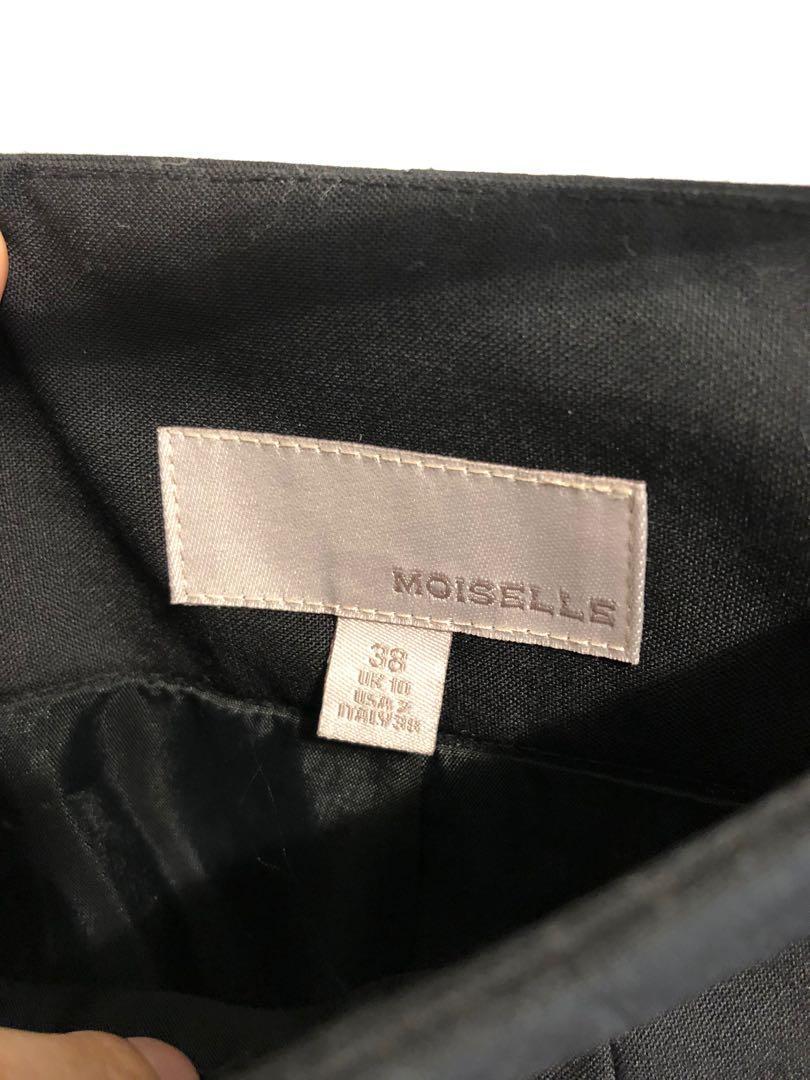 專櫃女裝Moiselle西裝材質黑色及膝窄裙正裝OL必備