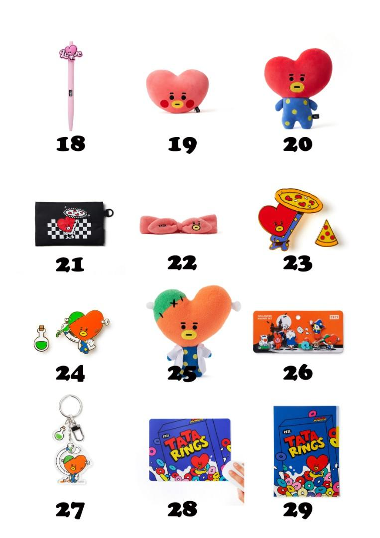 【MY GO】BT21 Official Merchandise in TW 💜TATA Series 2💜
