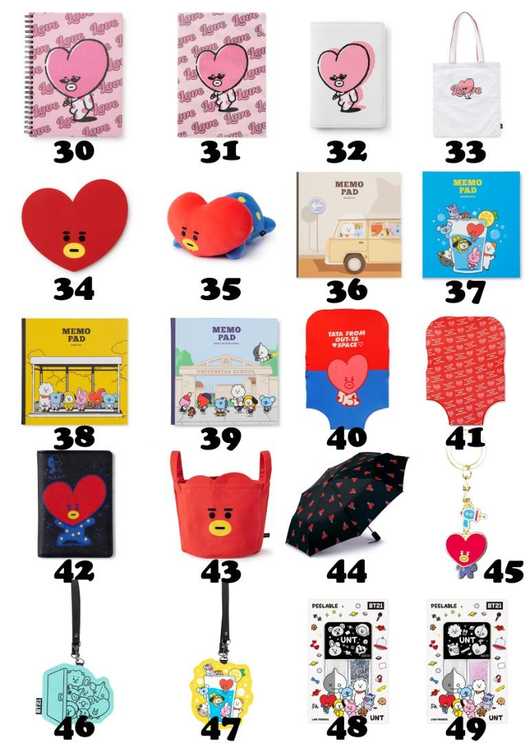 【MY GO】BT21 Official Merchandise in TW 💜TATA Series 3💜