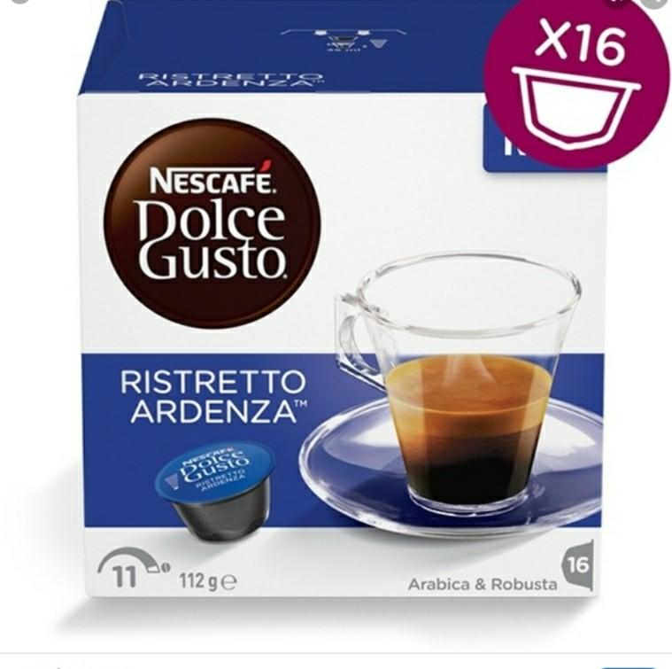 Nescafe Dolce Gusto Capsules ristretto ardenza coffee machine