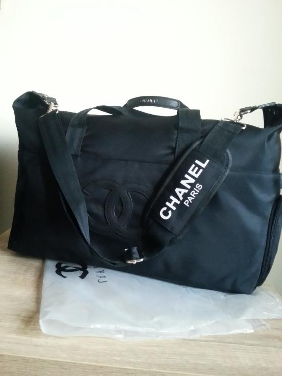 New Black Makeup VIP Gift Chanel Adjustable Strap Duffle Bag (Reduced Price)