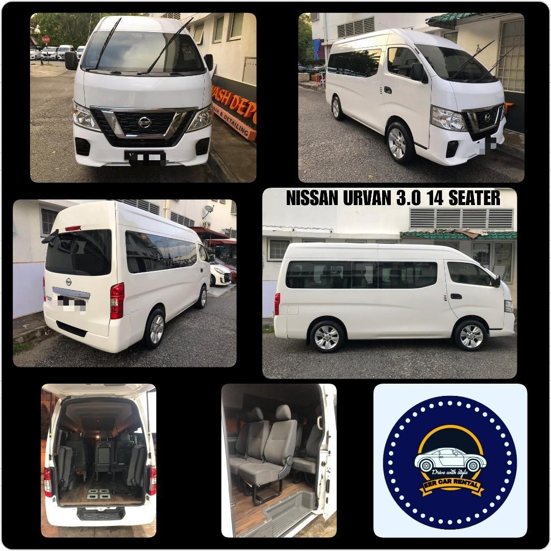 New Nissan Urvan 2.5 (M) 14 seater Van Rental Selangor KL