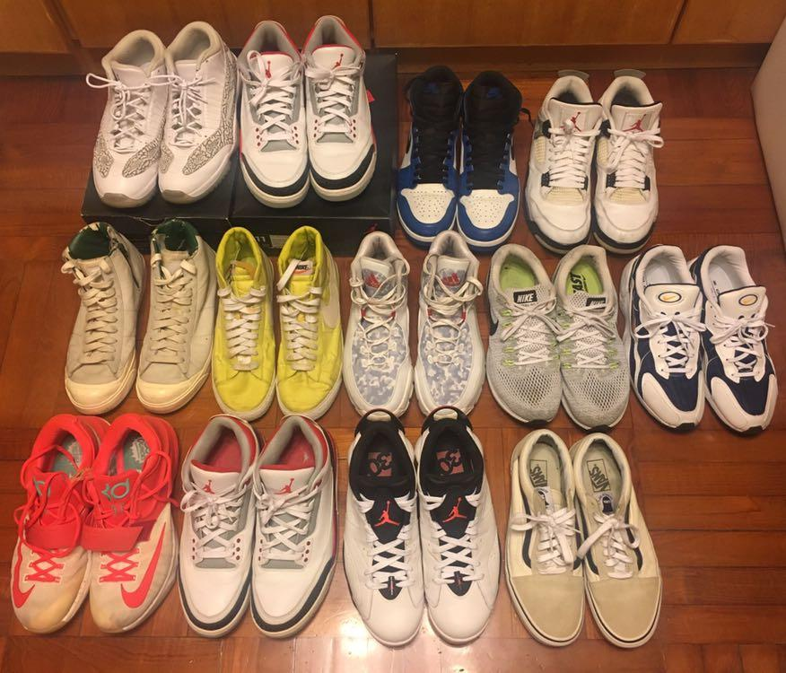 清鞋 nike air jordan aj3 aj1.5 aj11 blazer vans zoom adidas us11 us12