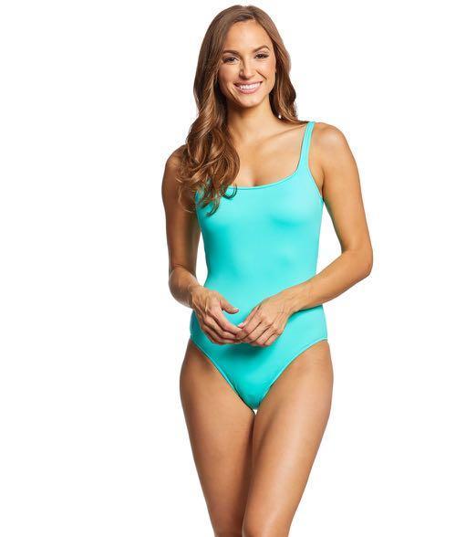 Polo Ralph Lauren One Piece Low back Swimsuit - Aqua Lagoon