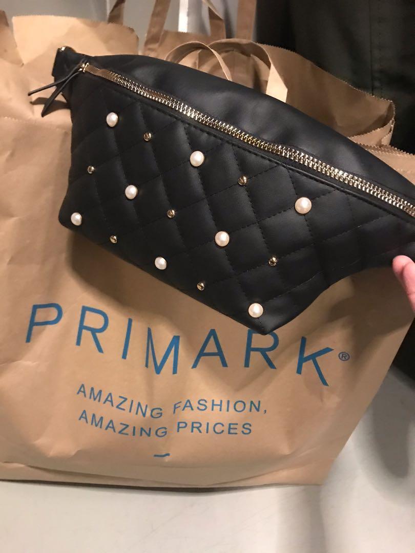 歐洲Primark 凌格 腰袋/ 斜背包(防皮)