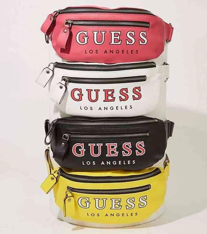 Printed waistbag guess