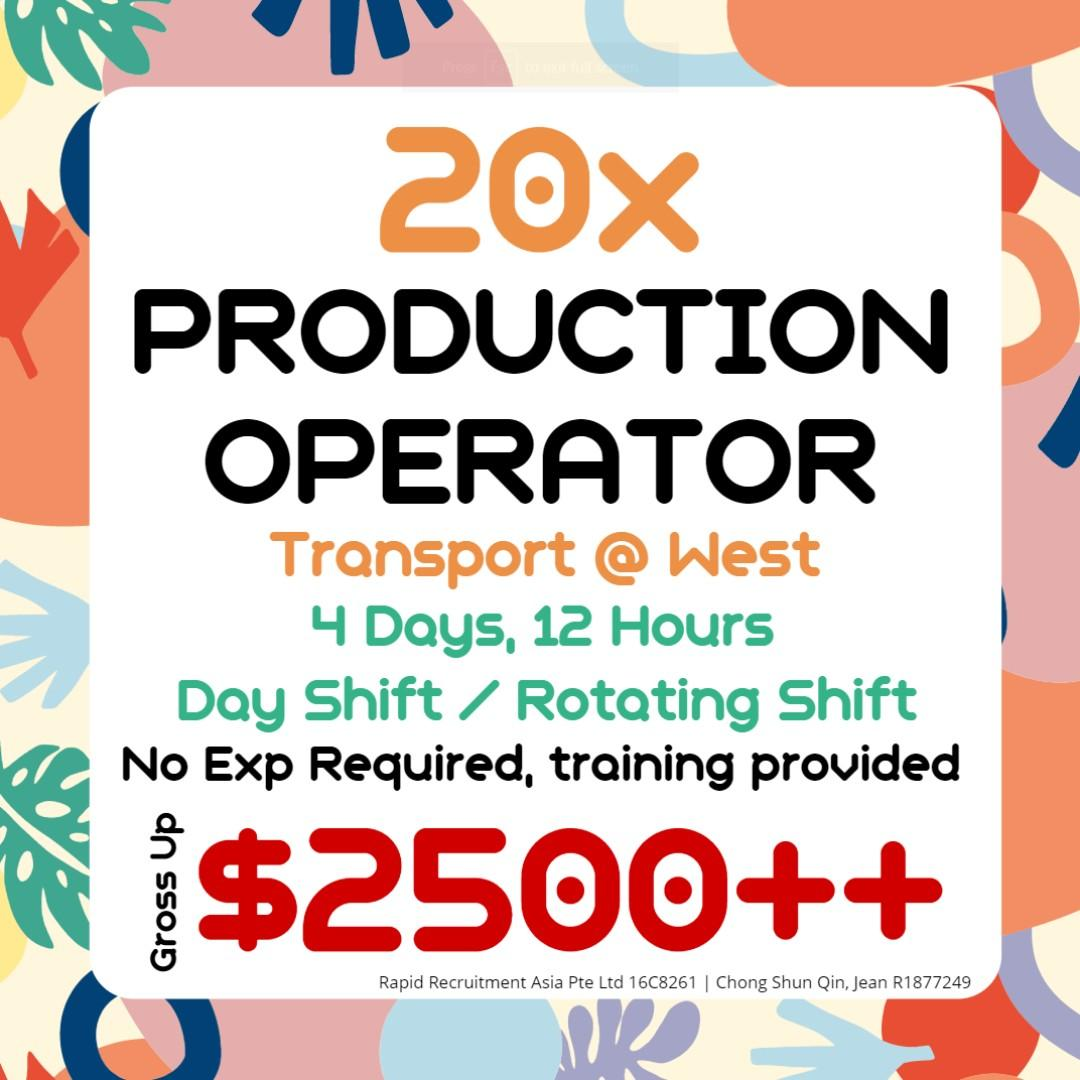 Production Ops ($2500 gross /No Exp Req /TPT Provided) - JQ