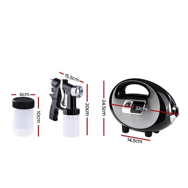 Professional Spray Tan Machine Sunless Tanning Gun Kit HVLP System Black