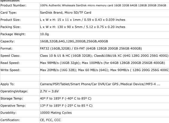12.12 Sale- Micro SD memory Card UHS-I C10 Sandisk