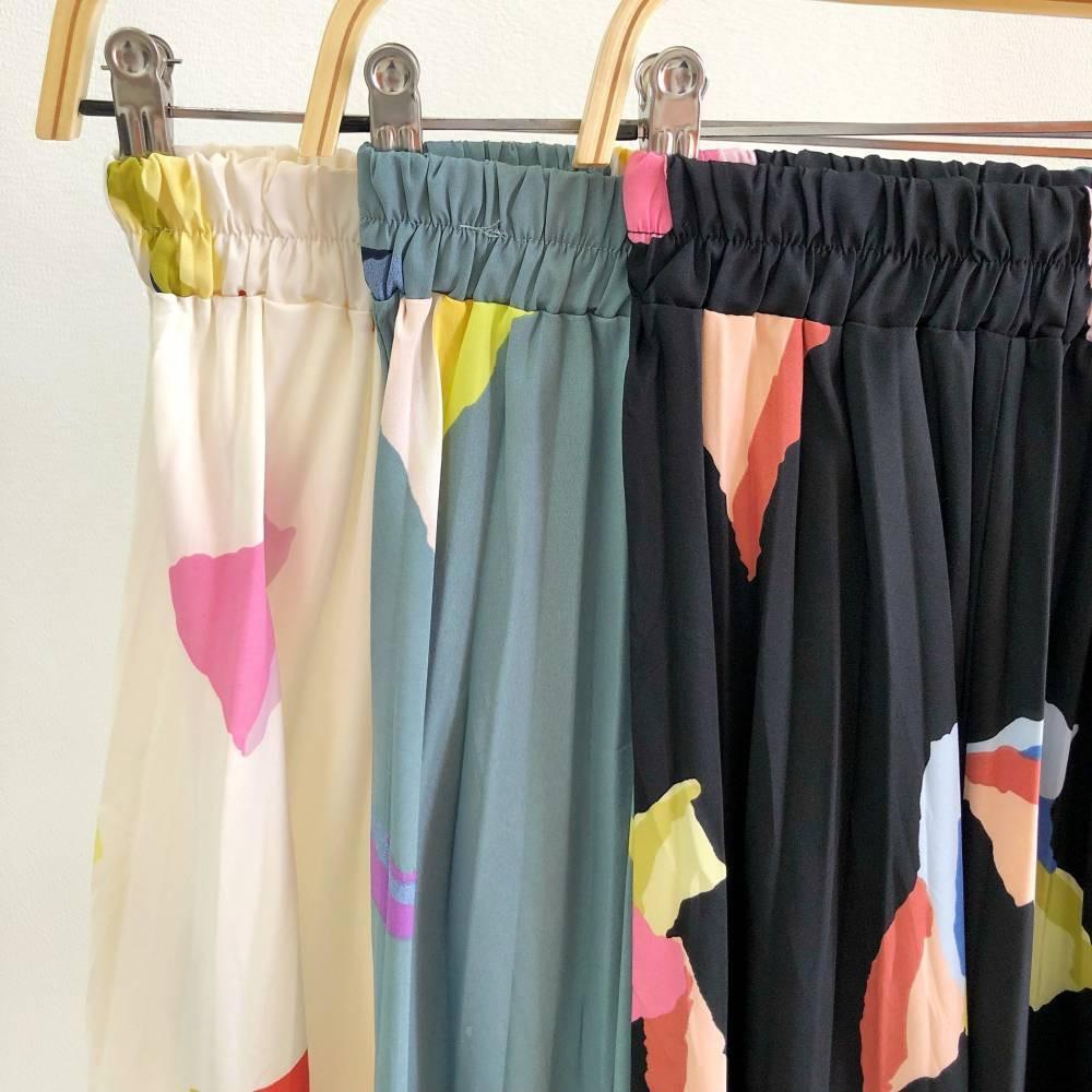 R5159 Origami Pleated Midi Skirt rok plisket motif rok import rok plisket import rok vintage rok import rok rampel rok pesta rok selebgram
