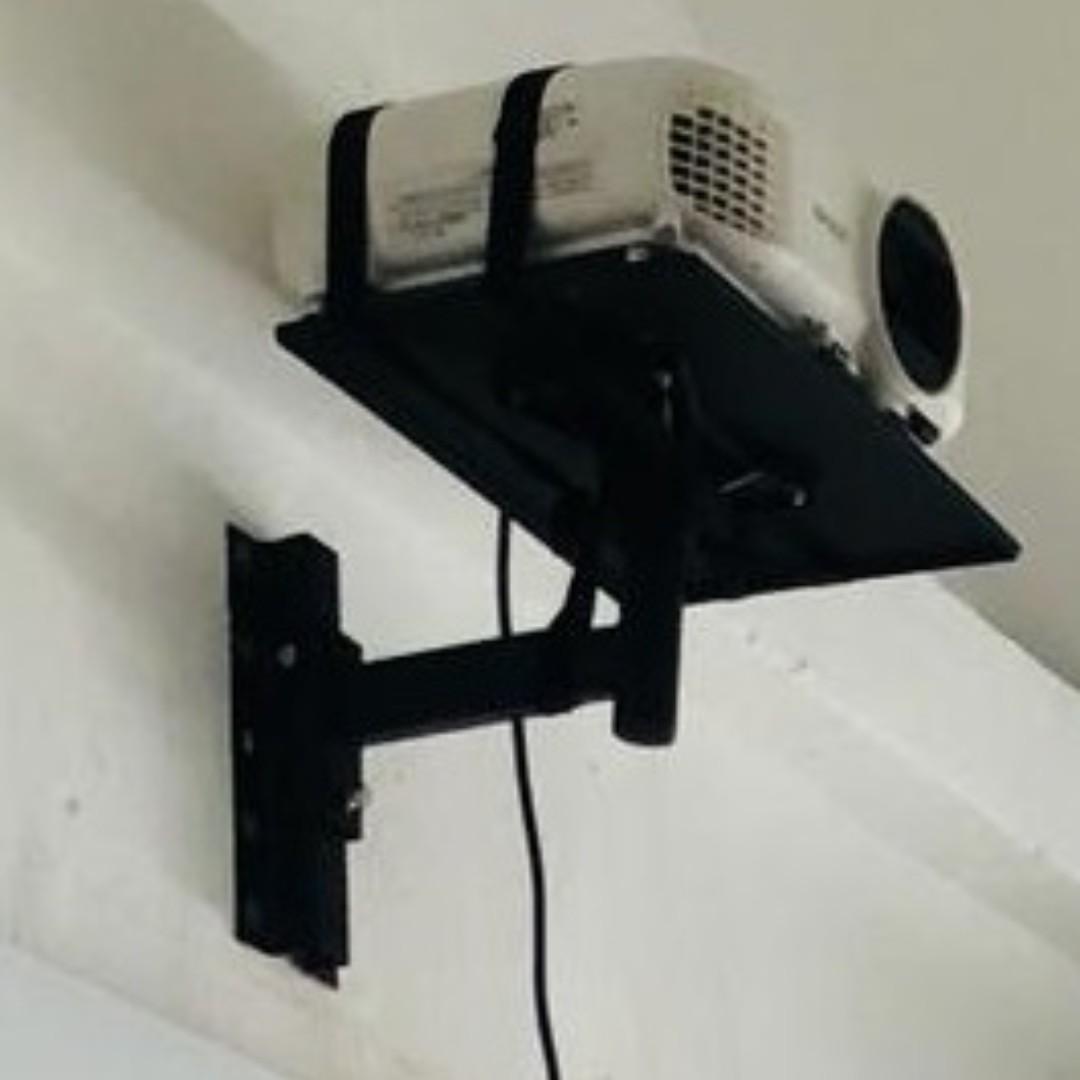 Speaker projector amplifer DVD wall shelf mounting bracket whatsapp 8498 4312