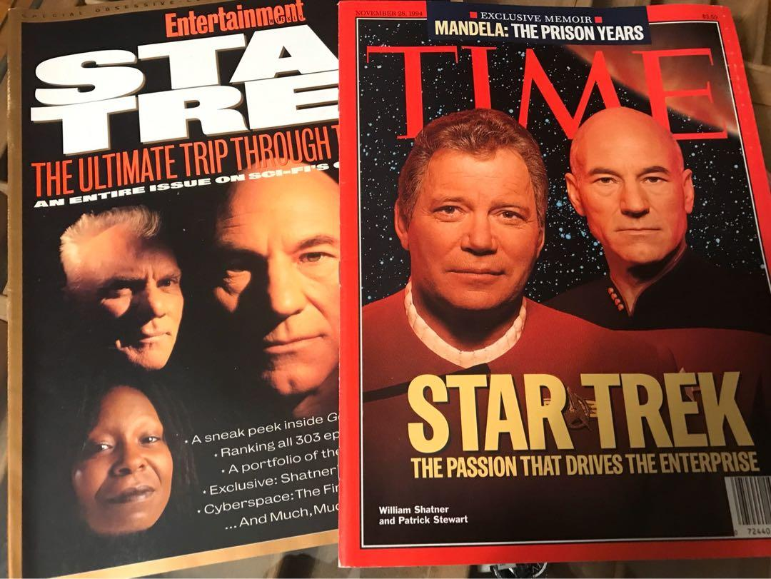 Star Trek the Next Generation: Generations Magazines from 1994 & 95 and trading cards