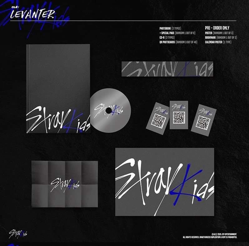 Stray Kids - Cle : LEVANTER Normal Edition - PREORDER/NORMAL ORDER/GROUP ORDER/ALBUM GO + FREE GIFT BIAS PHOTOCARDS (1 ALBUM GET 1 SET PC, 1 SET GET 9 PC)