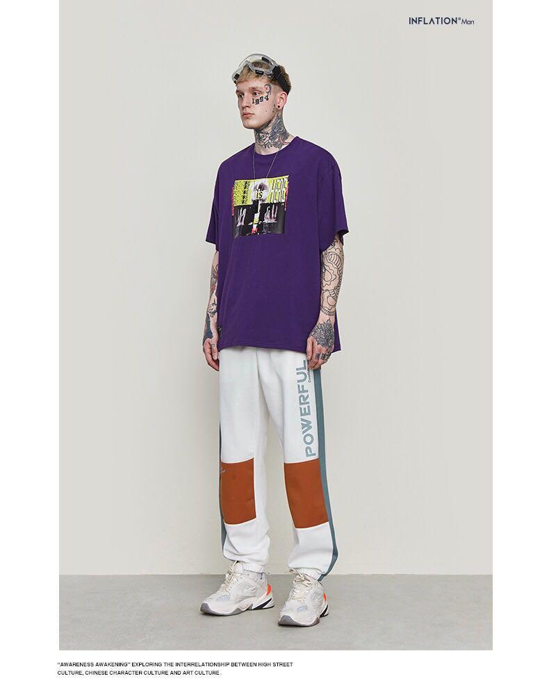 🇯🇵🇰🇷日韓系Streetwear撞色運動束腳褲