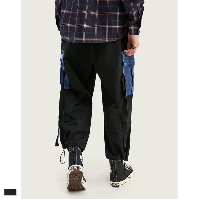 🇯🇵🇰🇷日韓系Streetwear撞色工裝褲束腳褲