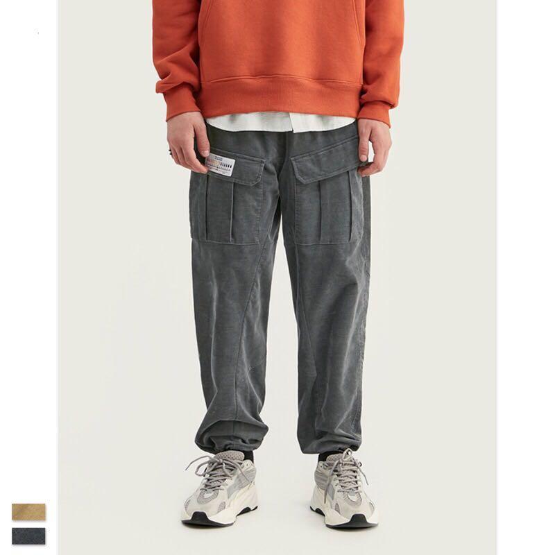 🇯🇵🇰🇷日韓系Streetwear燈芯絨工裝褲束腳褲