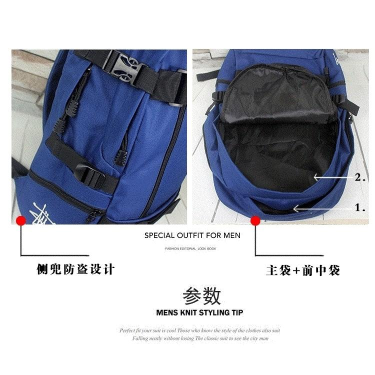 Stussy Backpack Laptop Travel Bag