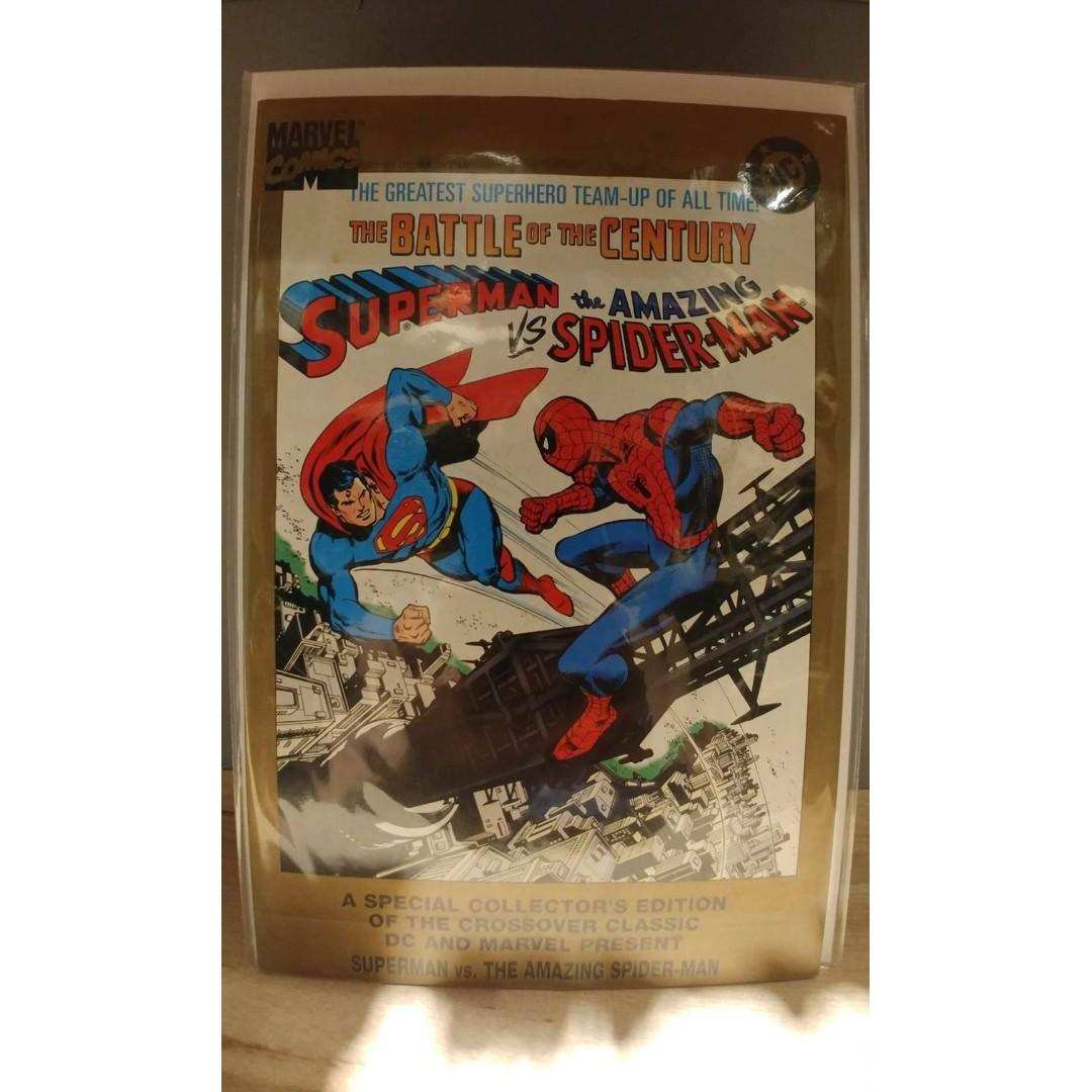 Superman vs. the Amazing Spider-Man (1995 Reprint) #1-1ST FIRST PRINT Comic-sized gold-bordered.