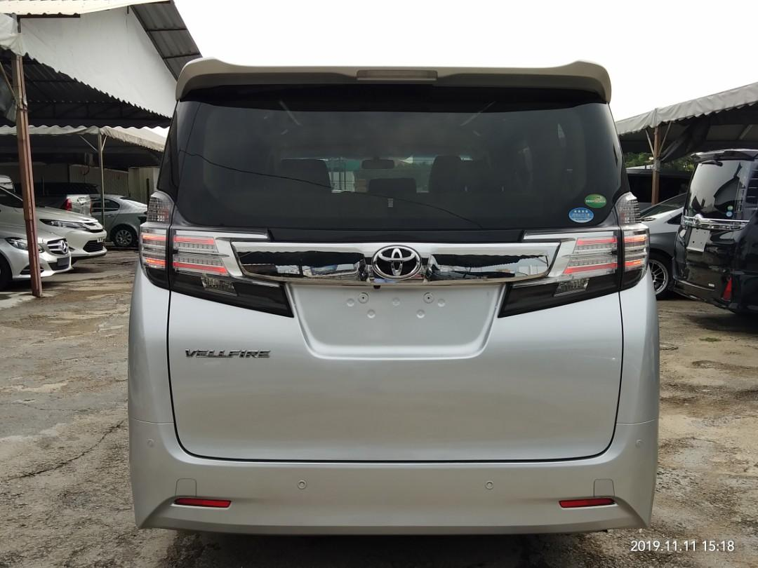 TOYOTA VELLFIRE X 2.5 8seat  Year:2015✔From:Japan🇯🇵✔Silver. Price RM156,888.88