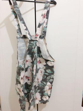 復古花花吊帶裙