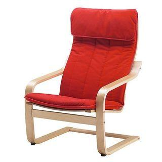 Ikea Poang Chair - Red Cushion Only