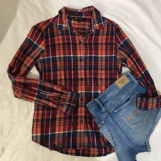 NET格紋襯衫 美式襯衫
