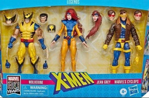 """X-Men Love Triangle 1990's Wolverine Jean Grey Cyclops 6"""" Action Figure Pack"""