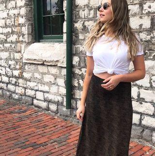 Vintage Cheetah Midi Skirt