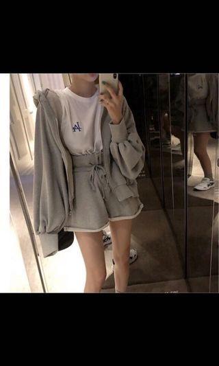 灰色休閒套裝 運動套裝 灰色外套 灰色運動褲