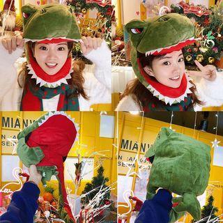 聖誕節交換禮物 表演活動 恐龍頭套