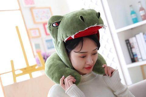 現貨【恐龍飛機枕】聖誕節交換禮物 表演活動 恐龍頭套