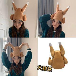 會動火雞帽 網紅抖音同款 電動火雞帽 會動的雞腿帽