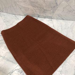 全新 咖啡紅 針織 窄裙 S號