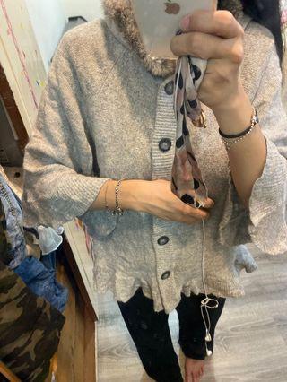 兔毛針織外套