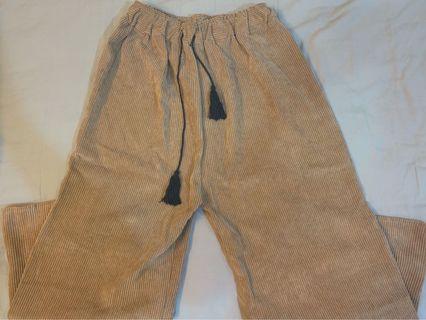 燈芯絨寬褲 (薄款)