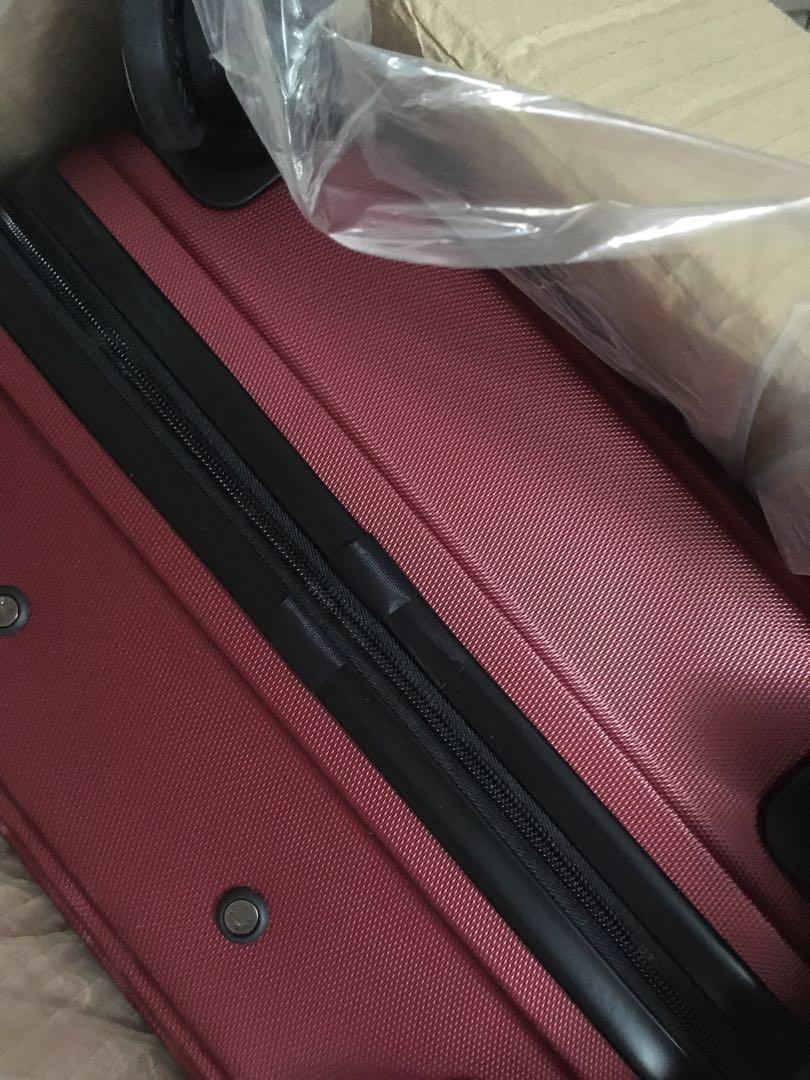 24吋ABS硬殼玫瑰紅行李箱 全新