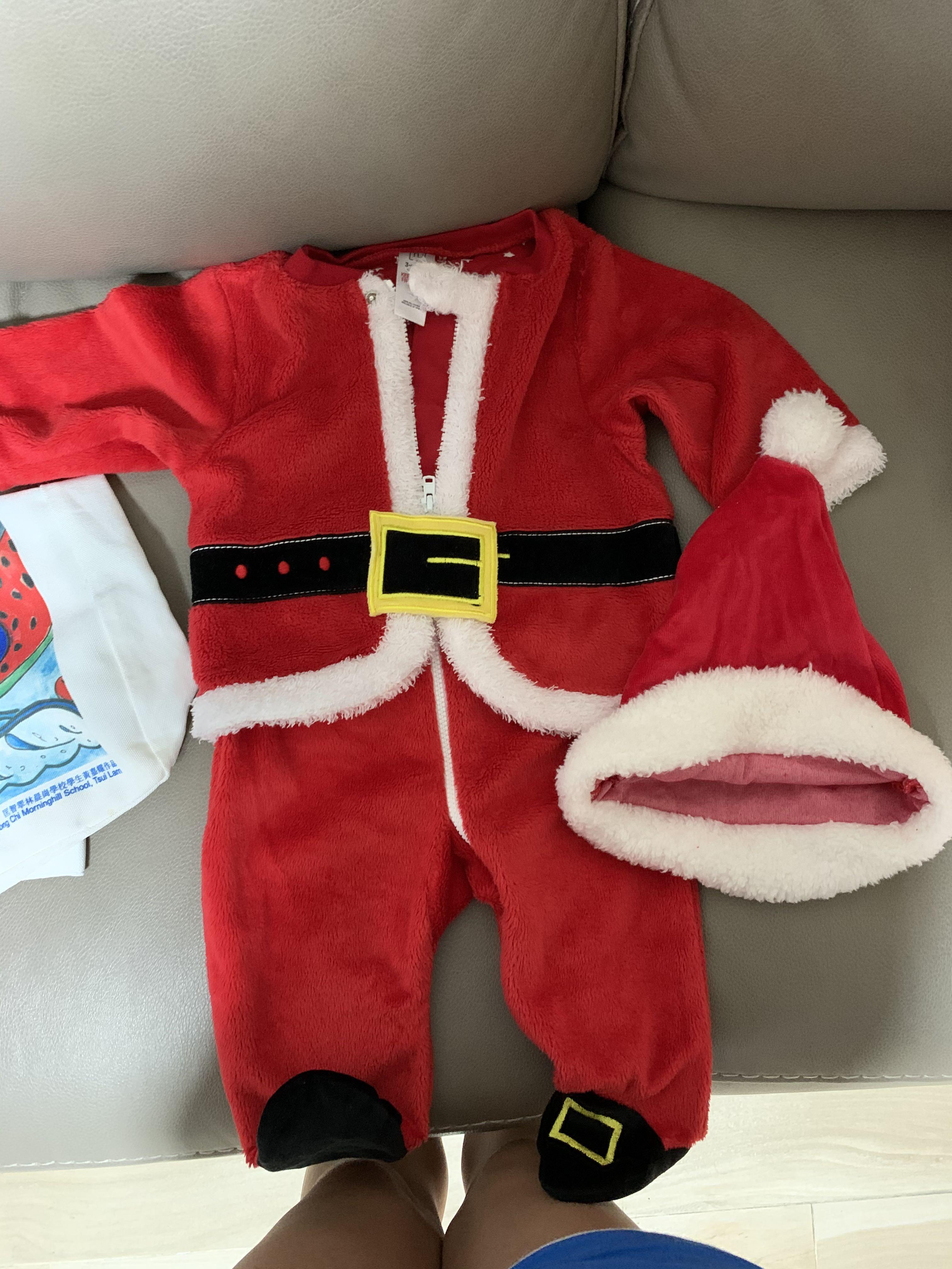 聖誕嬰兒連身包腳衫