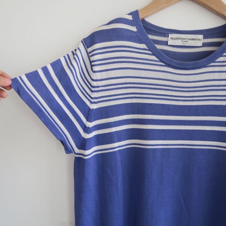 日本製 藍紫色條紋 歐洲精品線衫針織衫 針織上衣