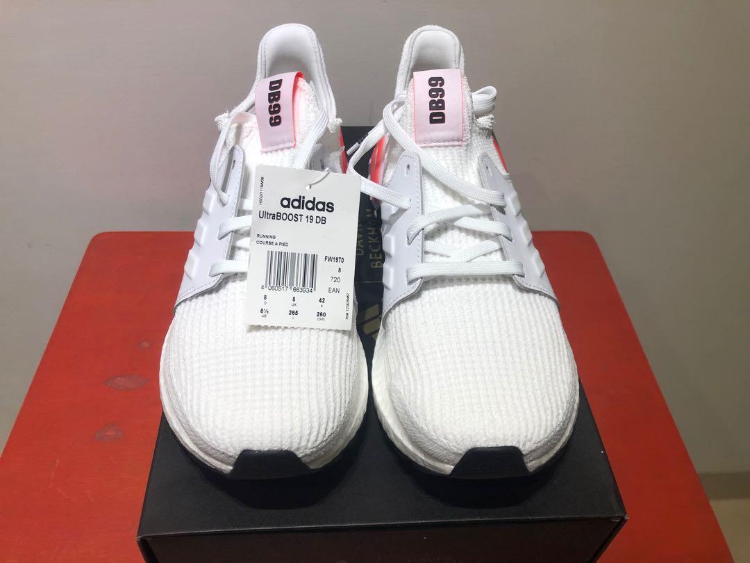Adidas Ultra Boost 19 男鞋 貝克漢聯名 襪套 緩震 慢跑鞋 FW1970